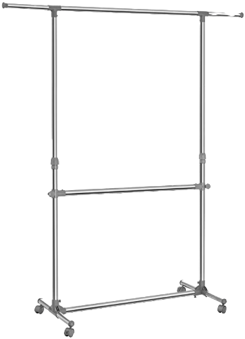 Songmics mobile clothing rack as a base frame for mount light and camera's to