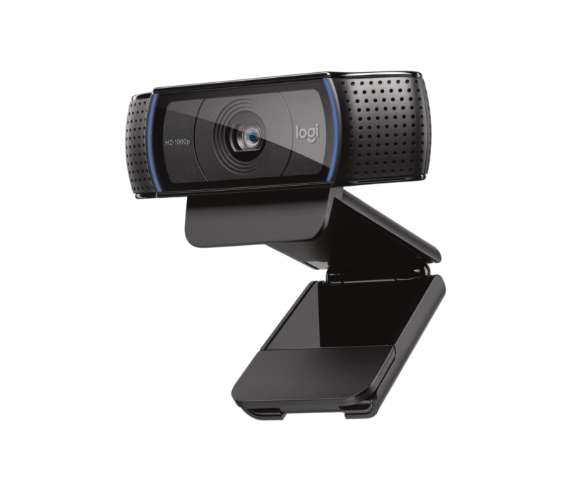 The Logitech C920 is a good webcam for this purpose. But, I prefer to use a DSLR instead. It is not as 'turn key' as a webcam, but it provides more control options.
